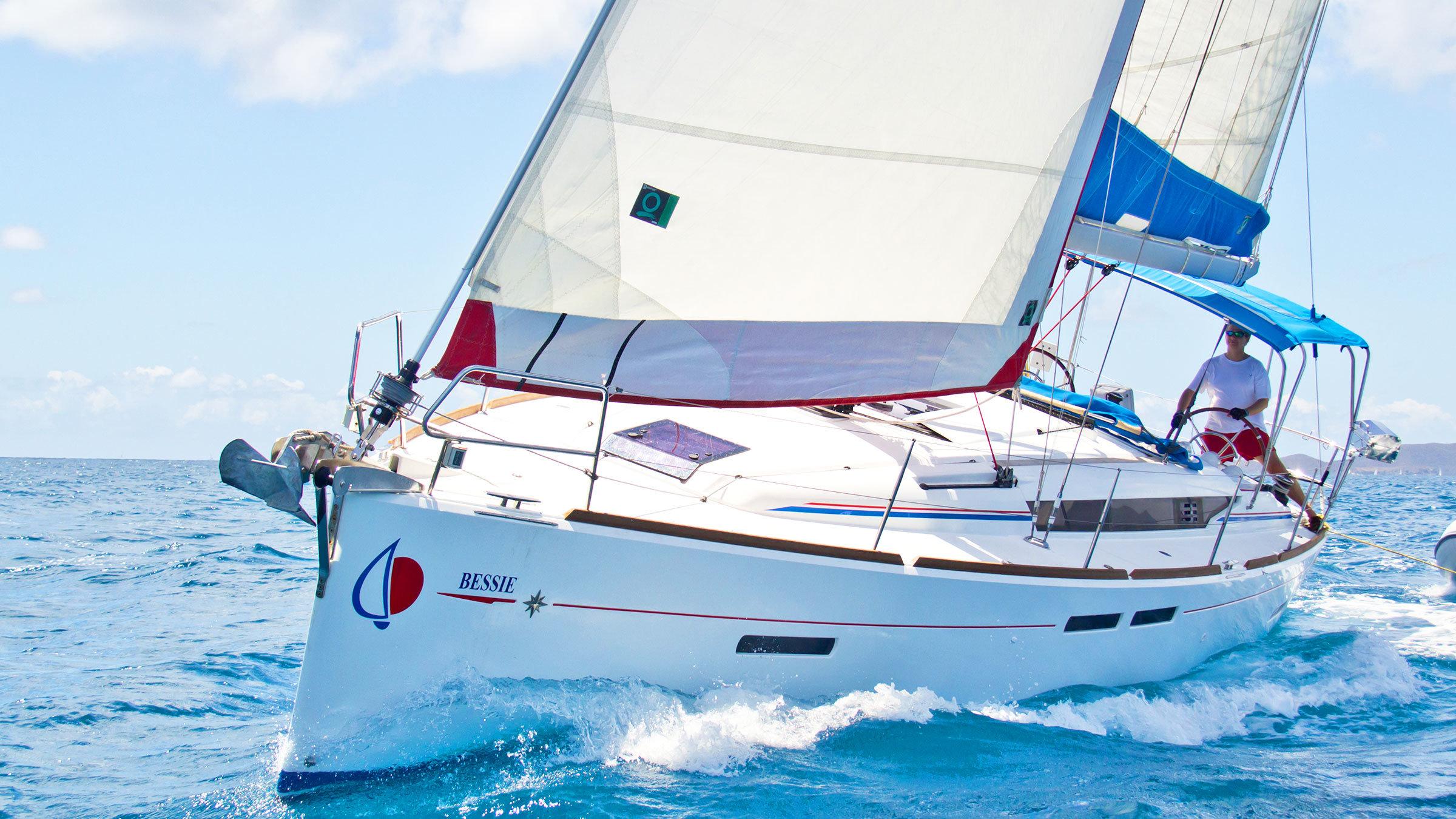 41 ft Sunsail monohull in the British Virgin Islands