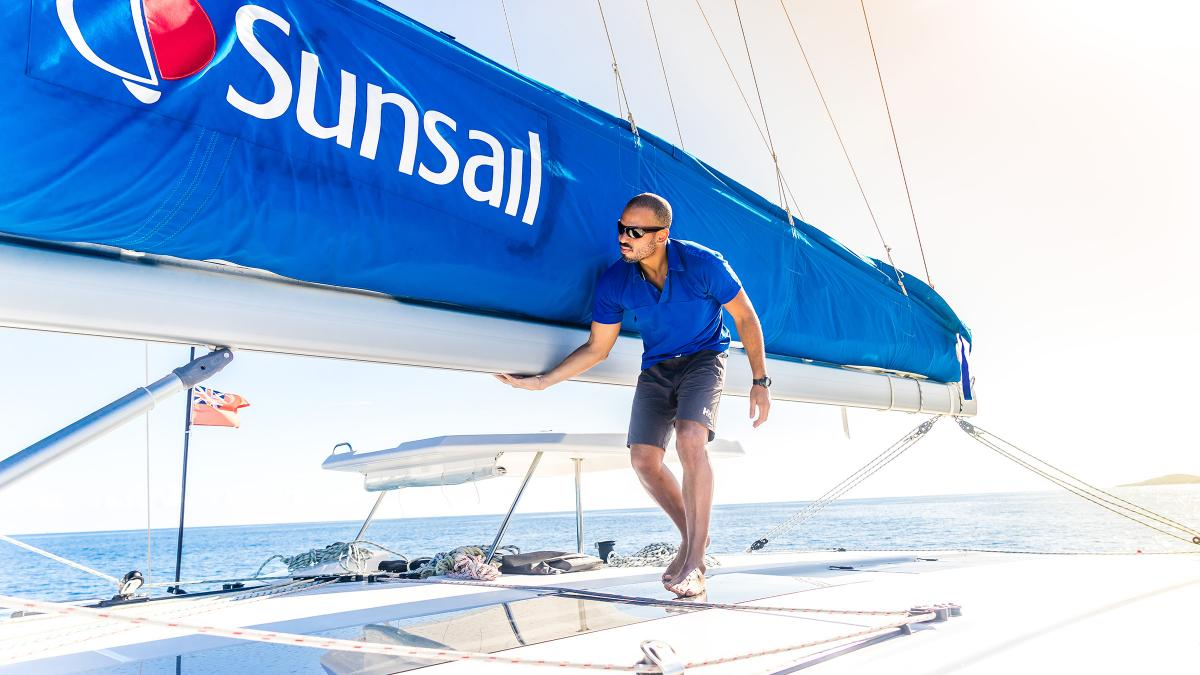 Sunsail skipper on board yacht
