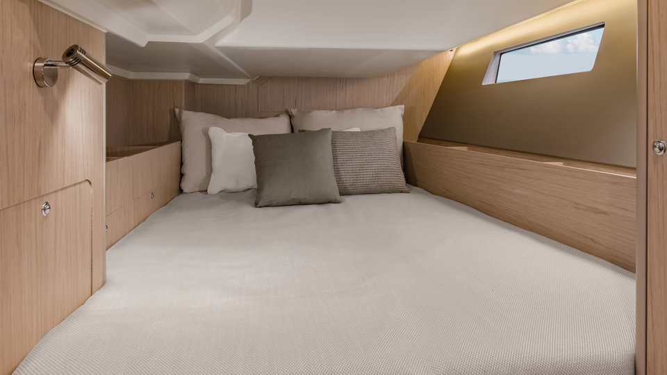 Bed van de Sunsail 41.1 monohull met 3 cabines