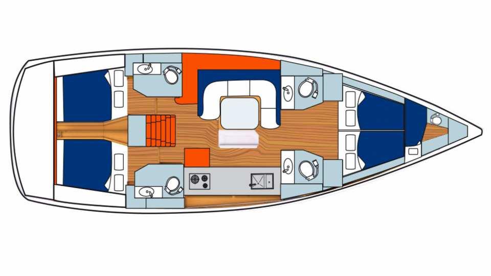 Sunsail 51 - 4 Cabin Monohull | Sunsail USA