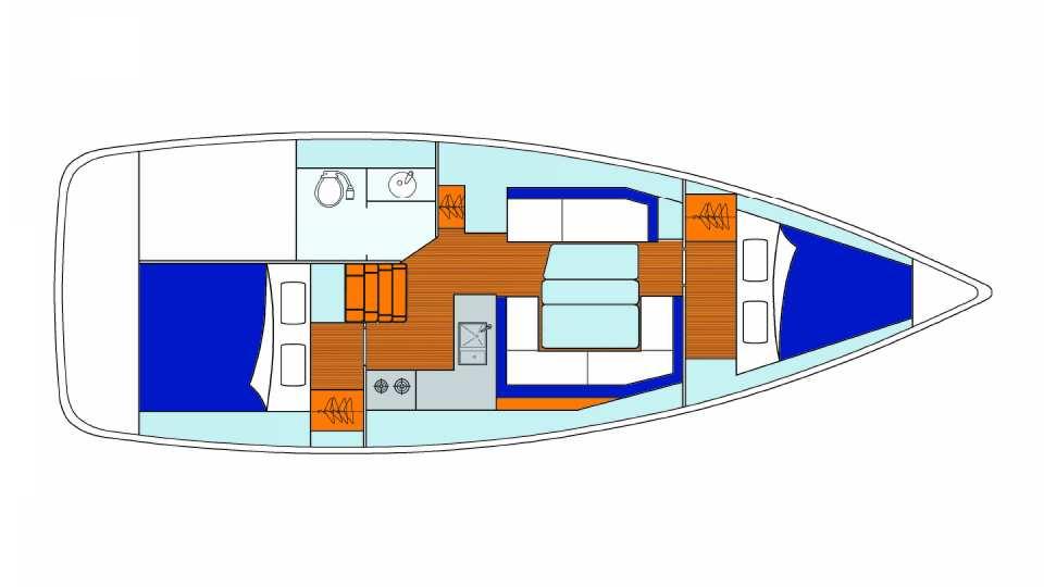 Sunsail 34 - 2 Cabin Monohull | Sunsail USA