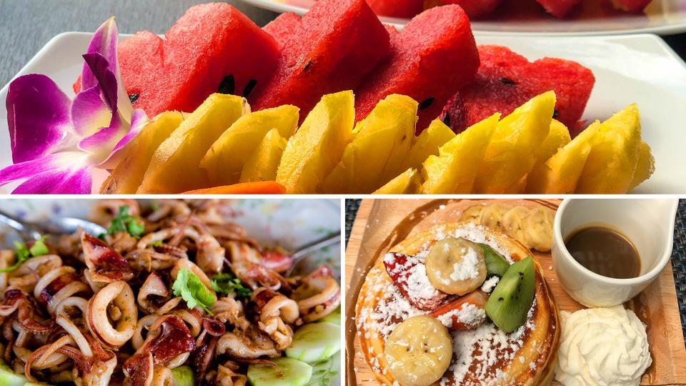 Thai cuisine and banana pancakes