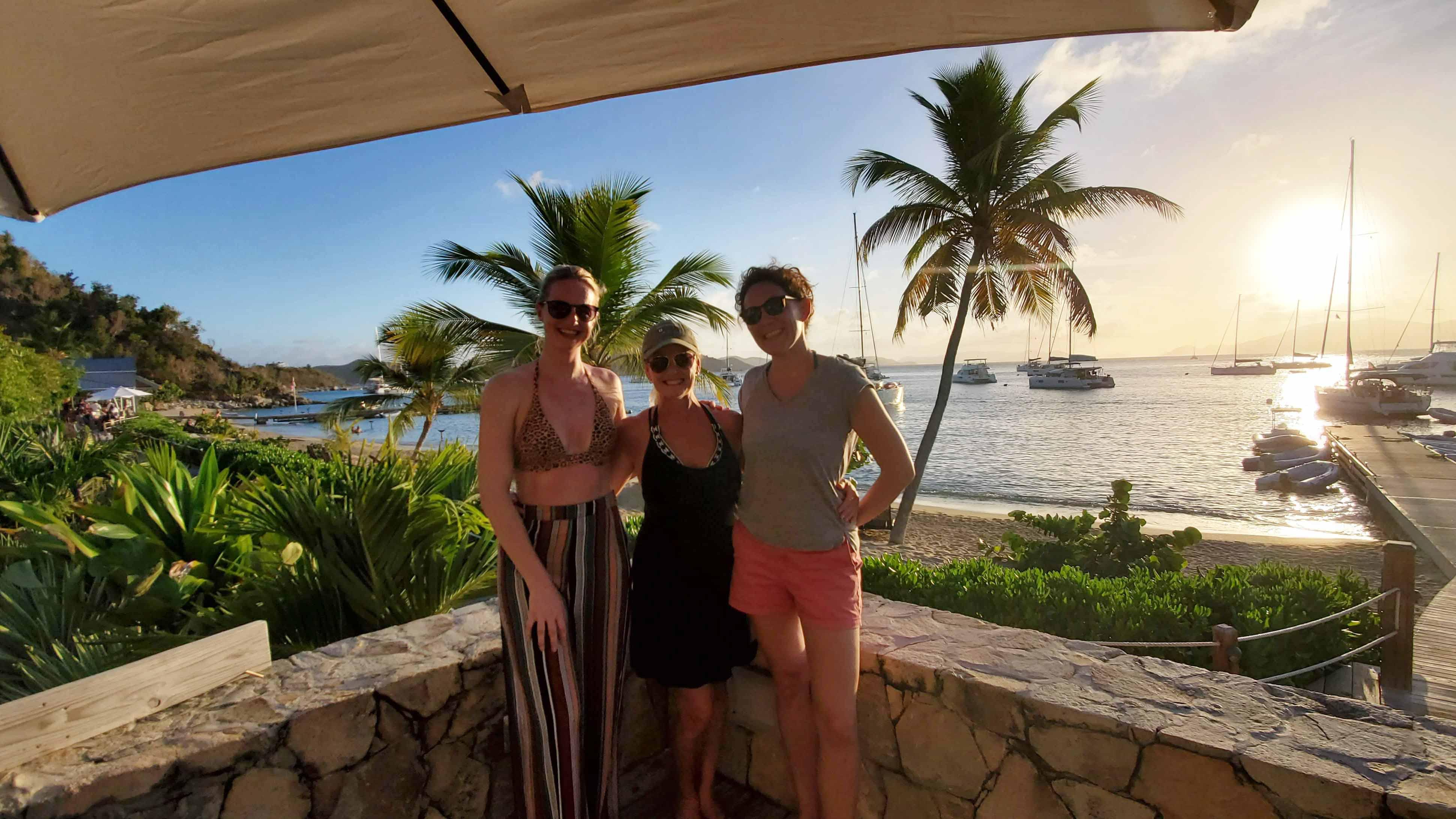 Sunsail Guests Sunset Cooper Island Beach Club BVI Caribbean