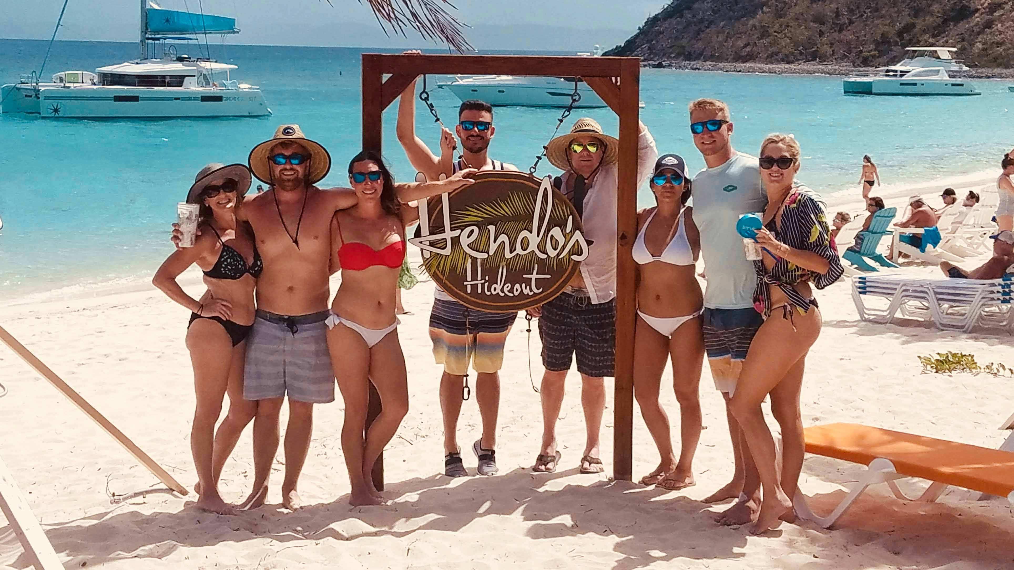 Hendo's Hideout Beach Bar White Bay Marina BVI Caribbean